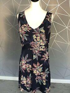 Women's Fat Face Sleeveless Tunic Dress - UK: 18 - Blue Floral Pattern