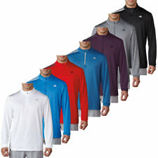 adidas Golf Mens 3-Stripes French Terry Pullover 1/4 Zip Sweater 34% OFF RRP