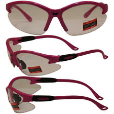 Safety Shop Glasses with Hot Pink Frame and Clear Lenses