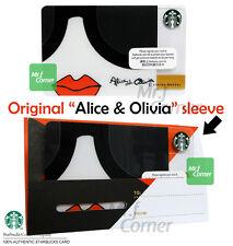 SC050 Starbucks Alice and Olivia Hong Kong Gift Card with Original Sleeve 2015