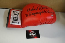 MICHAEL MOORER SIGNED BOXING GLOVE 3X HEAVYWEIGHT CHAMPION LEAF CERTIFIED