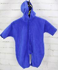 Baby Gap Fleece Snowsuit Romper Hoodie Baby Boys Size 0-3M Blue One Piece