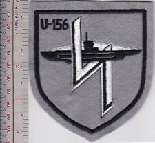 Germany Navy Submarine U-Boot U-156 Kriegsmarine Sub Navy Shield grey felt