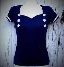 Waist Length Cotton Blend Cap Sleeve Tops & Shirts for Women