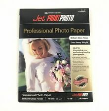 "Professional Photo Paper Hammermill Jet Print 4"" x 6"" 10 mil Gloss 24 Sheets"
