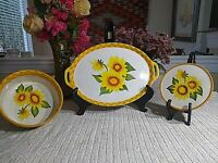 COUNTRY SUNFLOWER (3) PIECE OVENWARE SET BY TEMP-TATIONS