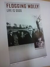 POSTER by FLOGGING MOLLY life is good For the new tour album / cd GIG promo