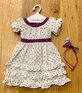 American Girl Kirsten's Midsummer Purple Polka Dot Dress, Retired
