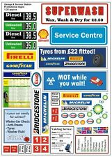 G LGB 1:24 Scale Modern Garage Adverts Notices Signs Railway Layout Diorama