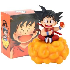 Young Son Goku action figure model toy on a cloud Dragon Ball Z figurine PVC