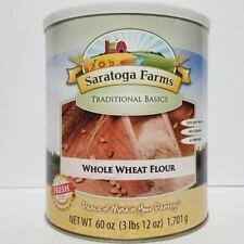 Saratoga Farms Freeze Dried Food Whole Wheat Flour #10 Can