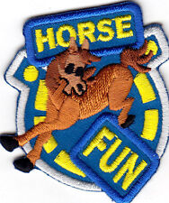 """""""HORSE FUN"""" - WESTERN - SOUTHWEST - HORSES - FARM/IRON ON EMBROIDERED PATCH"""