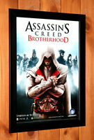 Assassin's Creed Brotherhood PS3 PS4 Xbox Rare Promo mini Poster Ad Page Framed