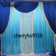 3*3m royal blue wedding backdrop drapery for event party decoration
