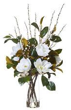 ROGUE Fake Flower Arrangement w Artificial Water Magnolia Mix-Strata Vase 110 cm
