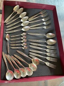 "Vintage Grosvenor ""Christine"" Cutlery 30 Pieces Assorted"