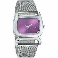FASTRACK  ANALOG PURPLE DIAL W STAINLESS SSTEEL STRAP WOMEN WATCH 6091SM01