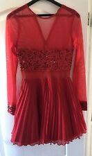 Jones + Jones Red Dress Size 8 (needs replacement zip)