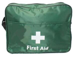 First Aid Sport Pitch Side Green Nylon Shoulder Bag Kitted/Empty *FREE PRINTING*