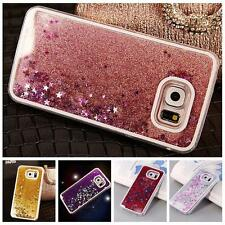 Bling Glitter Stars Water Liquid Back Case Cover for Samsung Galaxy S7 edge S6