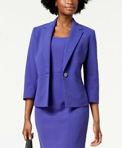 Kasper One-Button Pleat-Back Jacket MSRP $99 Size 6 # 4А 302 NEW