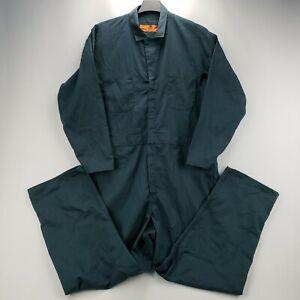 NWT Red Kap Men's Workwear Coveralls CT10SG5 Hunter Green 52 Regular