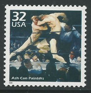 Stag at Sharkey's 1909 George Bellows Ash Can Painters School Boxing Stamp MINT!