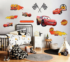 Cars Movie Lightning Mcqueen PERSONALIZED Decal WALL STICKER Decor Art WP10