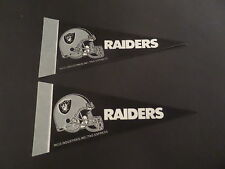 LOT OF 2-OAKLAND RAIDERS NFL BRAND NEW MINI PENNANT 4 X 9 BY RICO