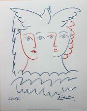 Pablo Picasso Lithograph Deux Femmes a la Colombe IV / Dove of Peace 2000