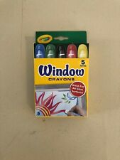 Crayola Washable Window Crayons 5/Set! Great for Glass Surfaces Art Marker! New!