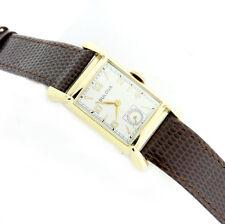 W153-Vintage Bulova 14k Solid Gold Unisex Wristwatch Manual Winding