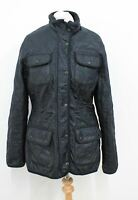 BARBOUR Ladies Black Long Sleeved Collared Winter Quilted Jacket Size UK10