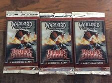 Warlord Saga Of The Storm CCG Death's Bargain Booster Packs(3)