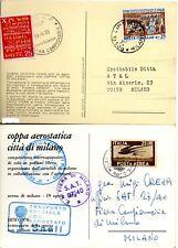 1969 / 1970  COPPA  AEROSTATICA  MILANO  POSTA AEREA  BOLAFFI / SASSONE