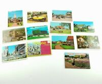 Lot of 12 Vintage Detroit, Holland, Dearborn, Michigan Postcards Henry Ford