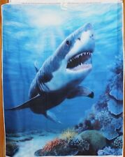 Shark Terror of the Deep Panel Digitally Printed btp