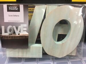Brand New George Home Wooden Love Letters