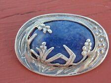 vintage Sterling & Lapis pin