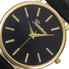 Fashion Women Watch Geneva Roman Leather Band Analog Quartz Wrist Watch New