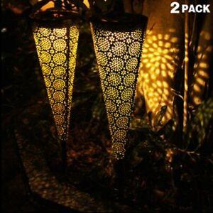 2 pcs Solar Garden Decorative Lights,Solar Pathway Outdoor Lights, Waterproof