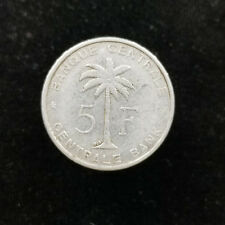 Belgian Congo Ruanda-Urundi Aluminum 5 Francs 1958 Palm Tree