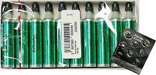 10 Dupont-Gas Feuerzeug GRÜN S.T.Dupont 10 ORIGINAL Kartuschen + 8 Zündsteine