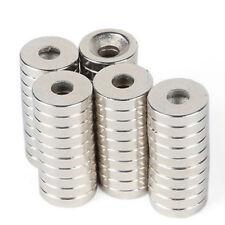 10 x Neodym Magnet starker Kühlschrank Magneten Geocaching Petling Bohrung D15