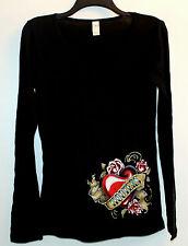 M Hooters Uniform Heart Roses Very Soft Long Sleeve T-Shirt Halloween costume