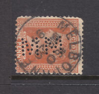 PERFINS:  VICTORIA 1d ORANGE   PRIVATE PERFINS  X4   SEE SCANS FOR ID... .