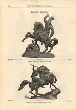 "1894 PAPER AD Bronze Statue Figure 13"" Arminius Amazon Van Dyck Shakespeare"