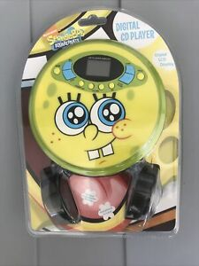 Spongebob Squarepants Personal Portable Yellow CD Player Brand New