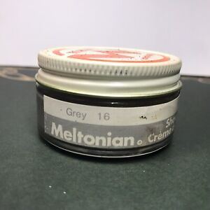 Meltonian #16 GREY Boot and Shoe Cream Polish Leather Care 1.55 oz