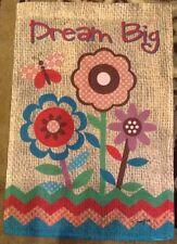 """Small 12 1/2"""" x 18"""" Dream Big Summer Theme Garden Art Flag New"""
